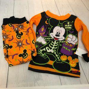 Mickey Mouse Halloween Glow In Dark PJ Set 18mths